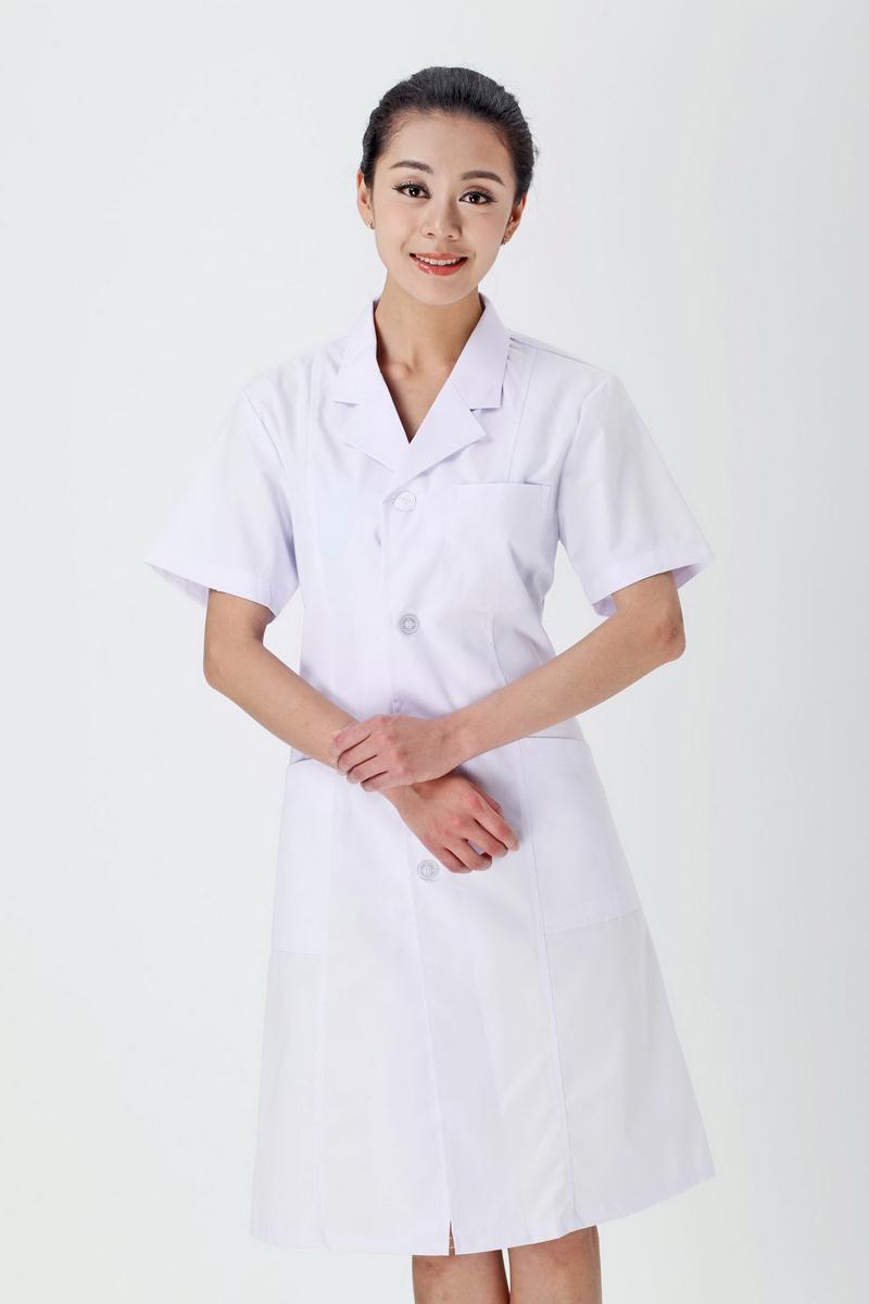 女医生服夏装白色款