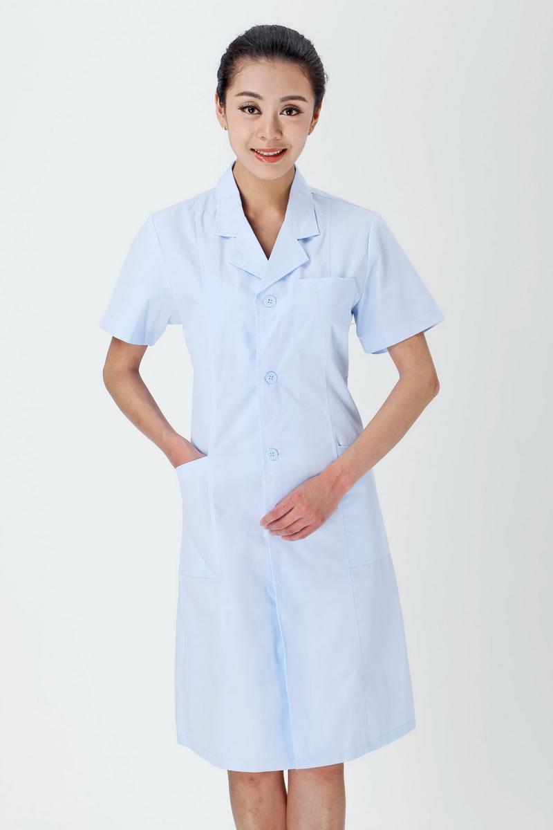 女医生服夏装蓝色款