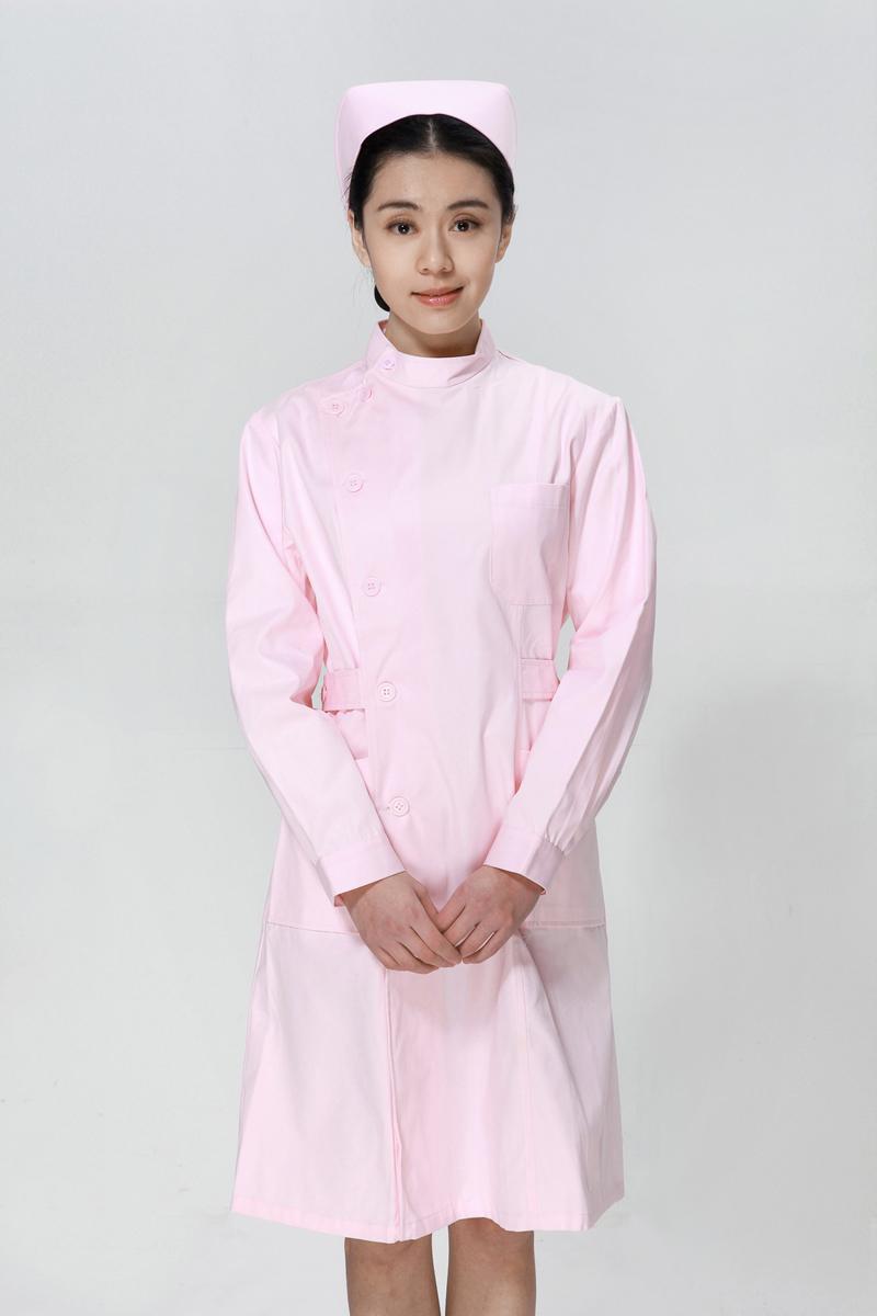 粉色龙8娱乐最新网址冬款右偏襟立领
