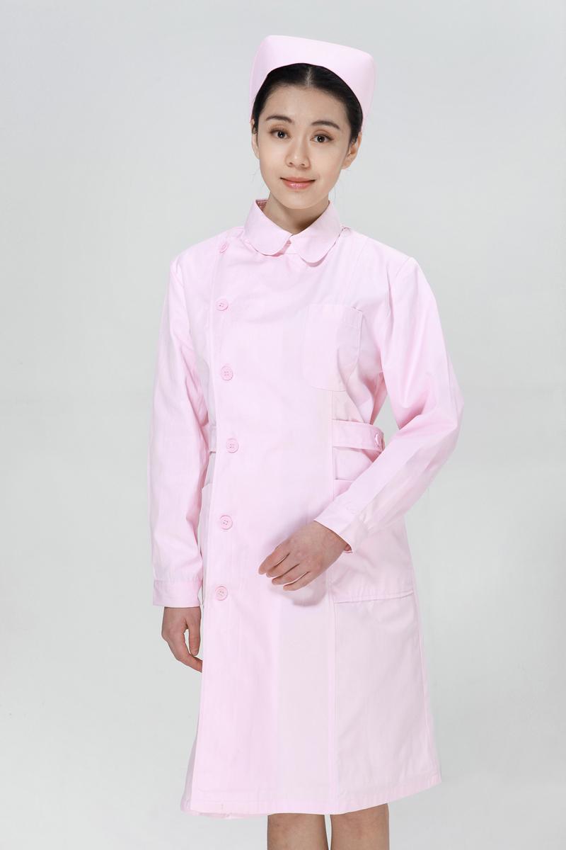 粉色龙8娱乐最新网址冬款右偏襟尖领