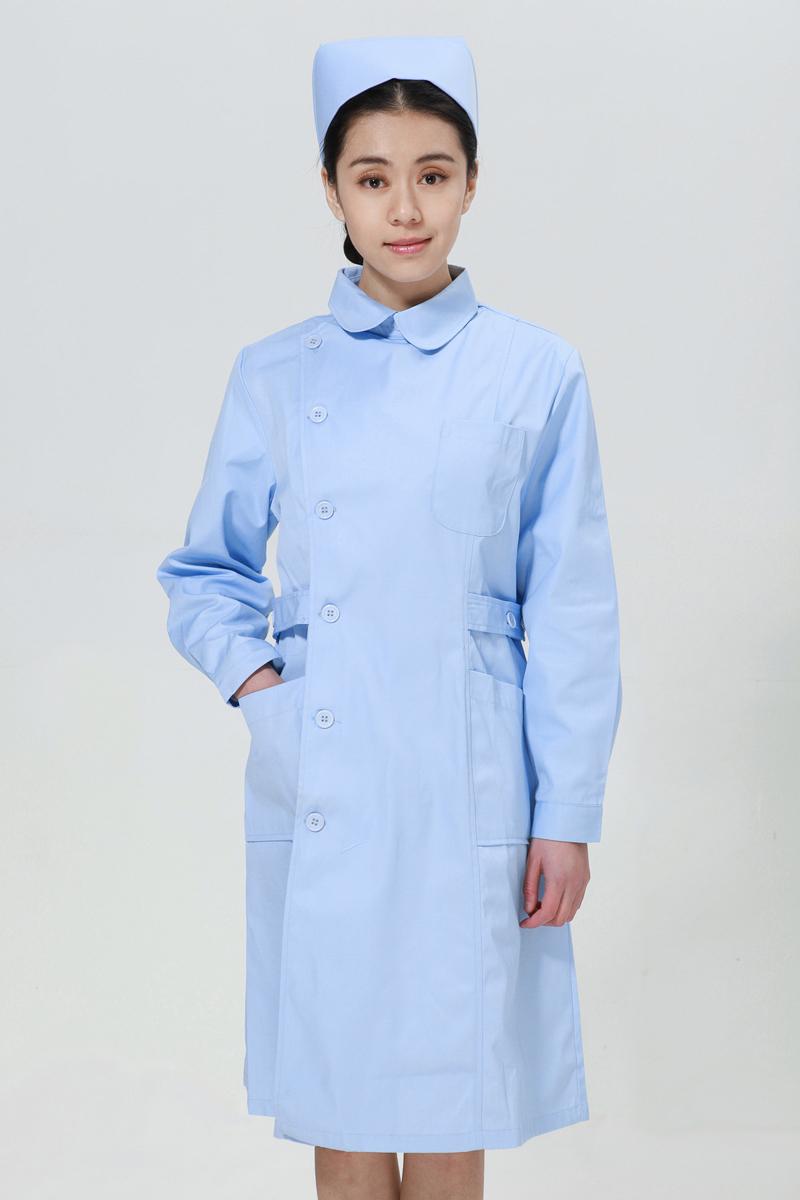 蓝色u赢电竞冬款右偏襟尖领