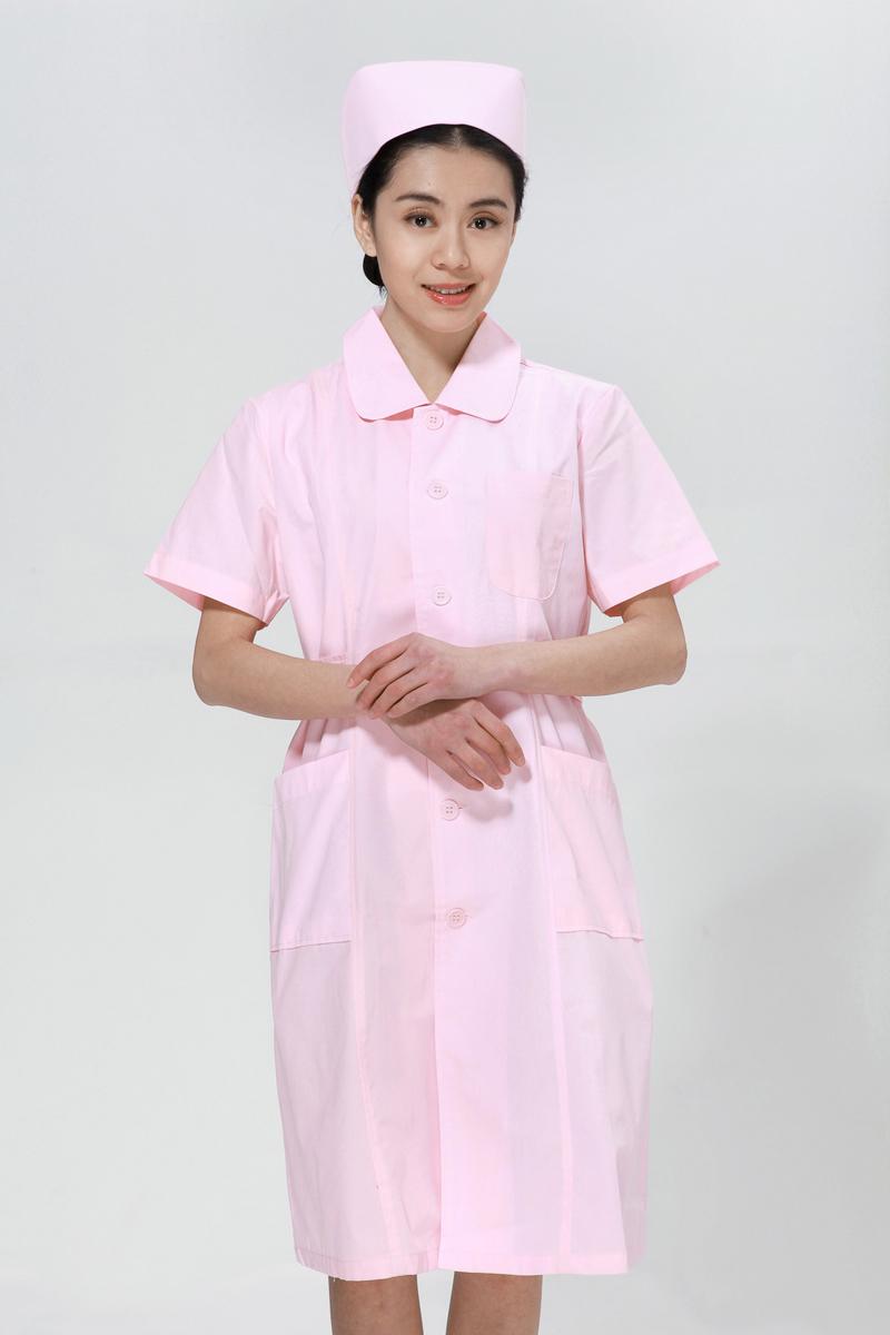 粉色乐虎国际维一官网夏款大娃娃领