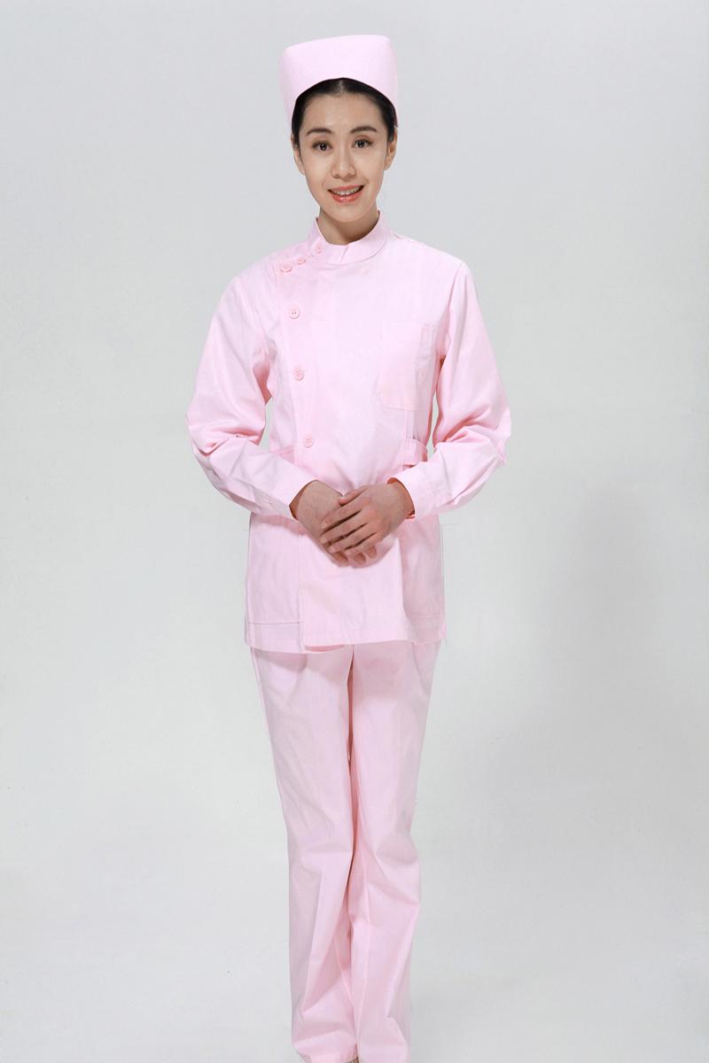 粉色u赢电竞套装冬款右偏襟立领