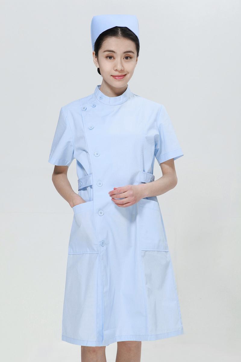 蓝色龙8娱乐最新网址夏装右偏襟立领
