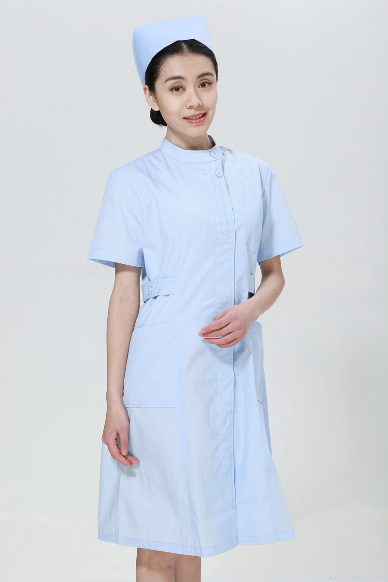 Blue collar nurse summer left side opening